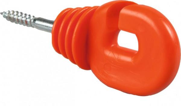 Super-Ringisolator mit Holzgewinde, rot, 6 mm Schaft, (Eimer mit 150 Stück)