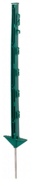 Kunststoffpfahl 1,05 m, 7 Drahthalter + 2 Seilhalter, grün (10 Stück / Pack)