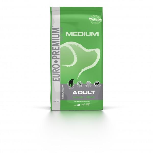 Euro Premium Medium Adult Lamm & Reis 12 kg