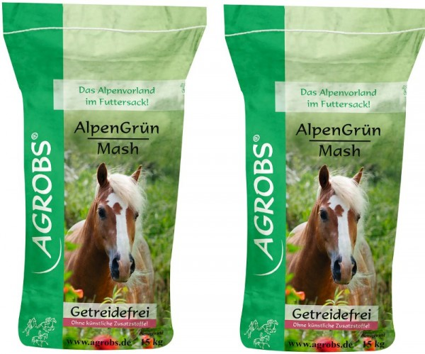 Agrobs Alpengrün Mash Sparpaket (2x15 kg)