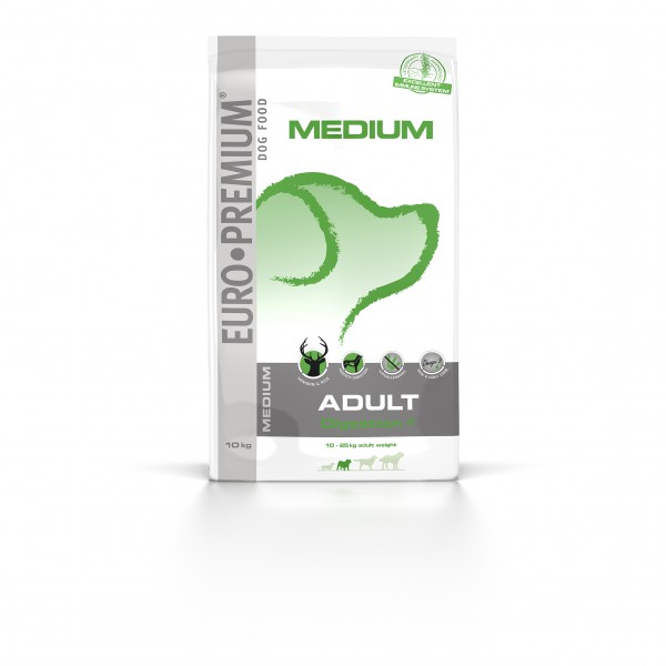 Euro Premium Medium Adult Digestion +, 10kg