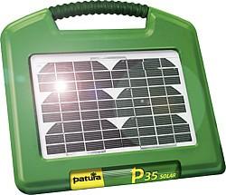 P35 Solar, Weidezaun-Gerät, integriertes Solarmodul 2,6 W und Gelakku 12 V/7 Ah