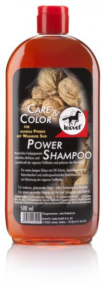 Leovet Power Shampoo mit Walnuss für dunkle Pferde 500 ml