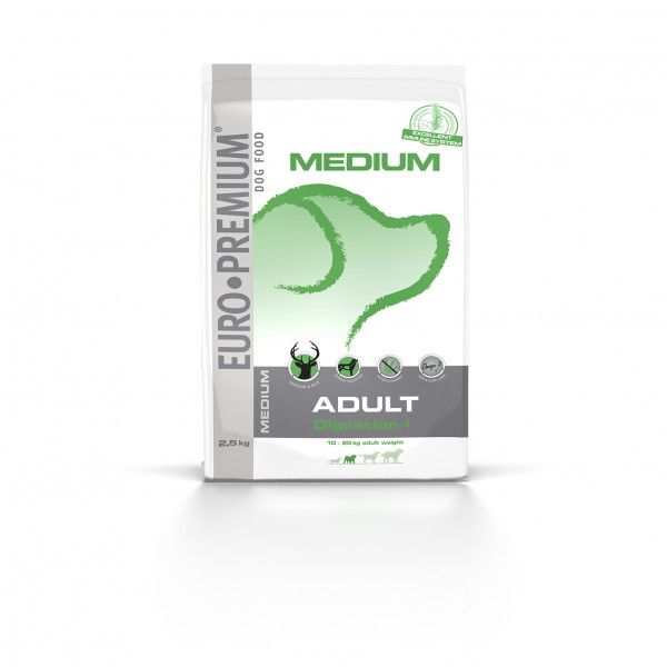 Euro Premium Medium Adult Digestion +, 2,5 kg