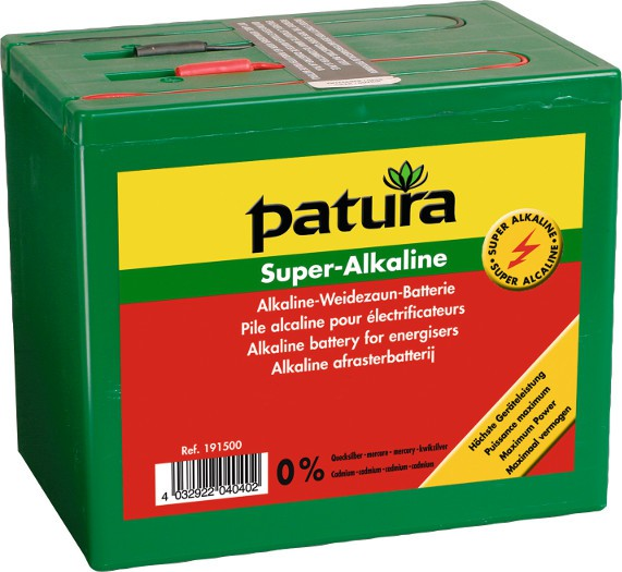 Super-Alkaline Weidezaun-Batterie 9 V / 75 Ah