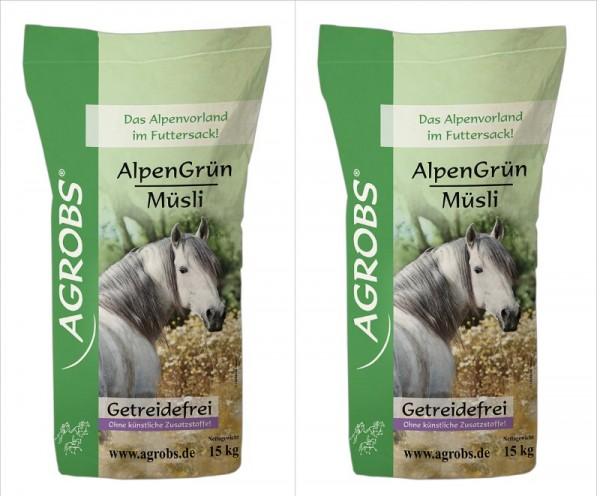 Agrobs Alpengrün Müsli Sparpaket (2x15 kg)