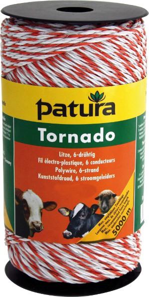 Tornado Litze, 200 m Rolle, weiss-orange 5 Niro 0,20 mm, 1 Cu 0,30 mm